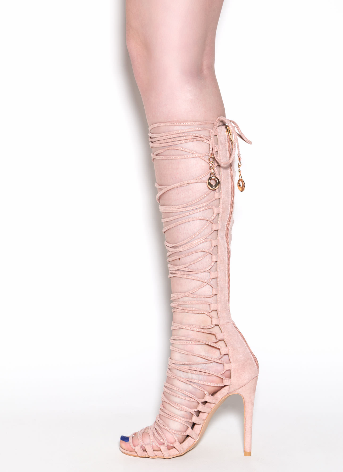 Lace-Up 2 Win Gladiator Sandals BLUSH