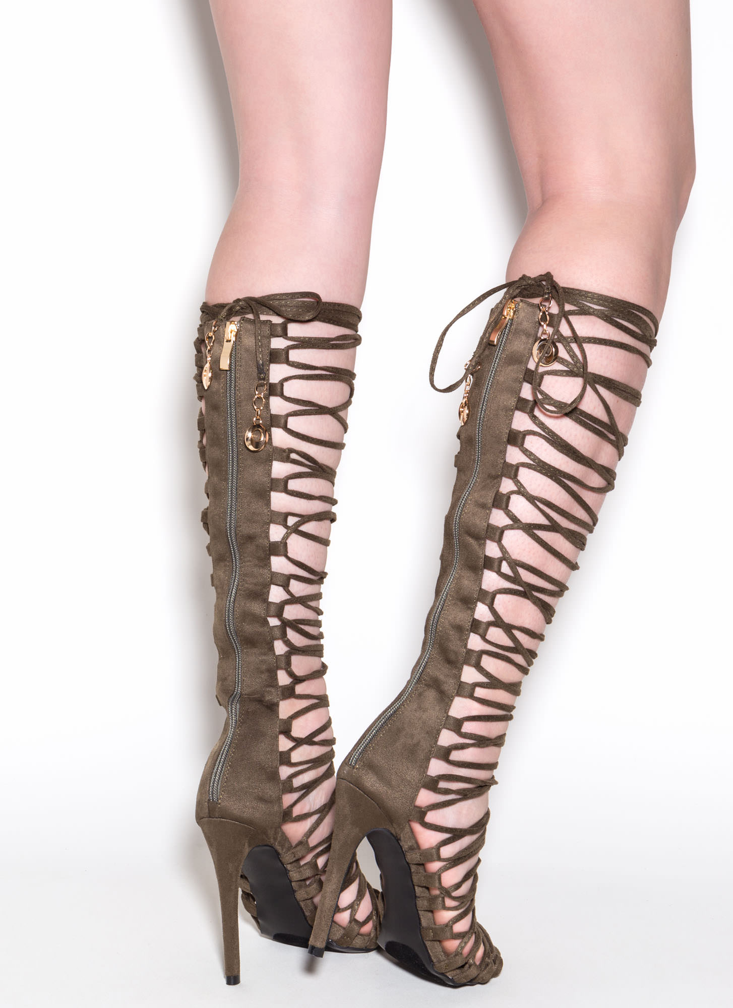 Lace-Up 2 Win Gladiator Sandals OLIVE