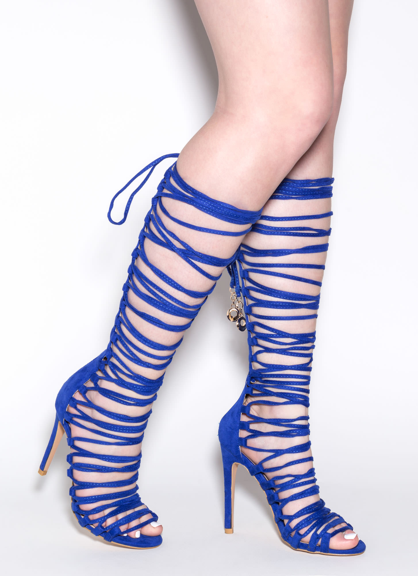 Lace-Up 2 Win Gladiator Sandals ROYAL