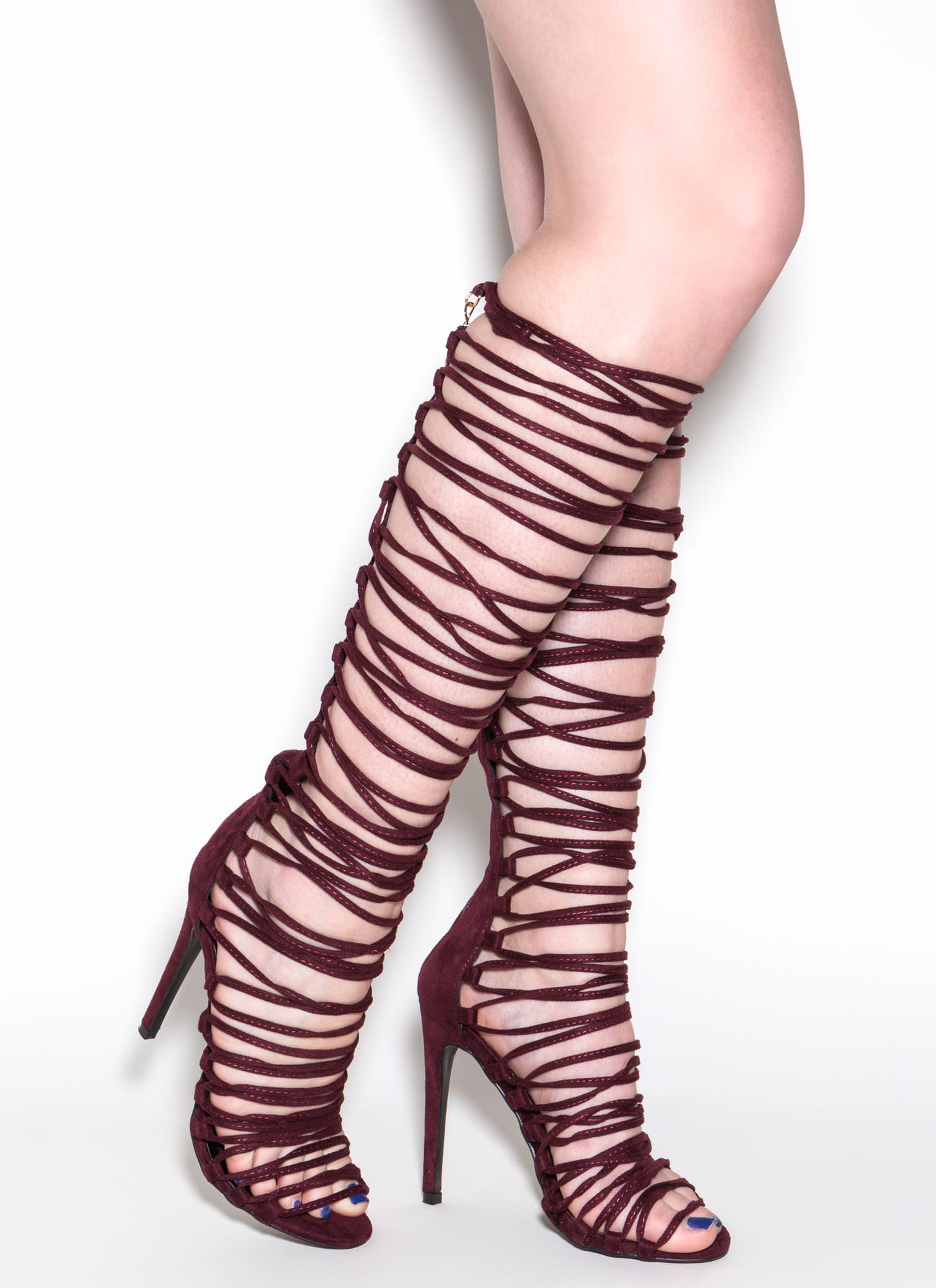 Lace-Up 2 Win Gladiator Sandals WINE (Final Sale)