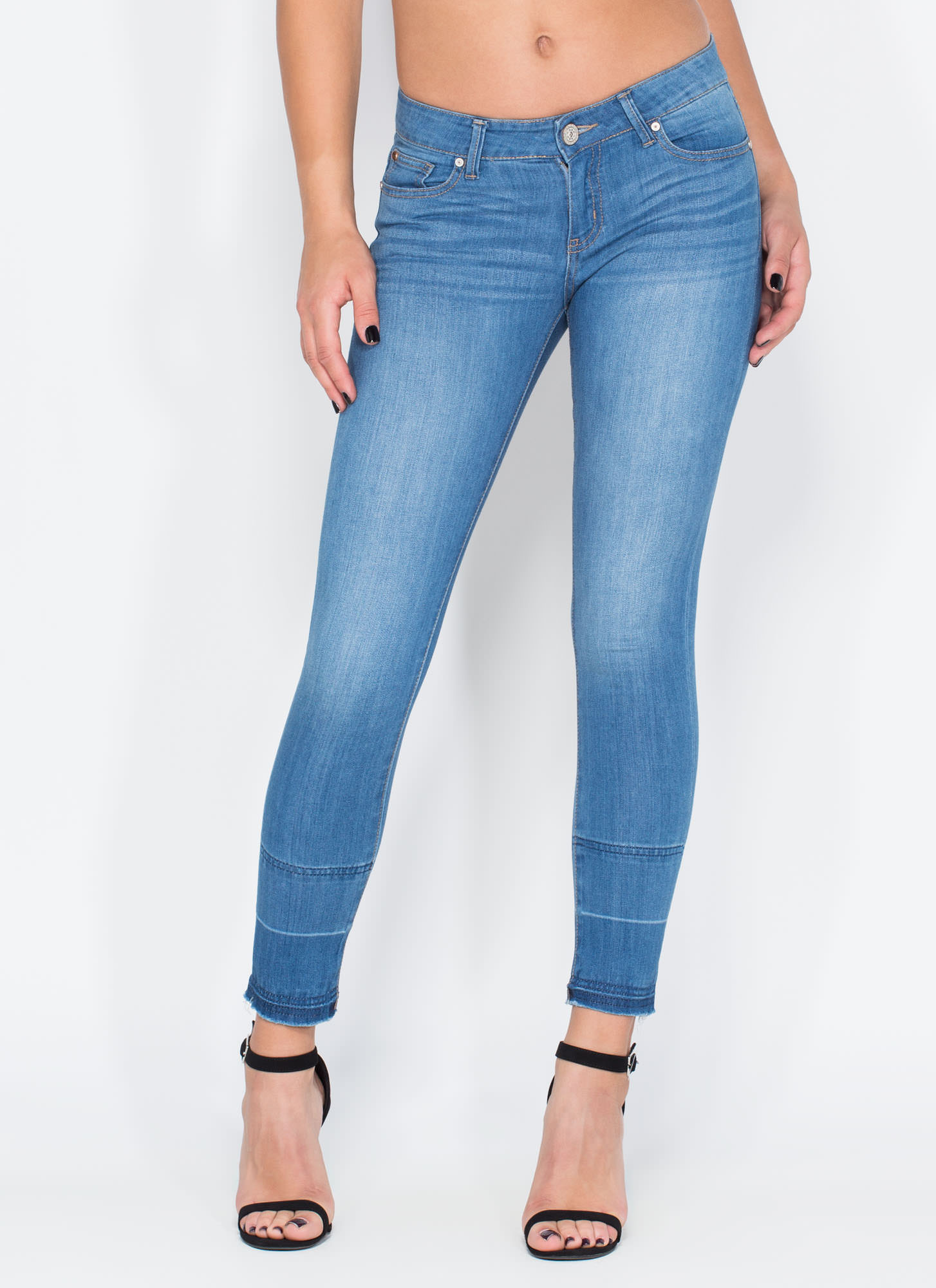 Dare To Dream Skinny Jeans BLUE - GoJane.com