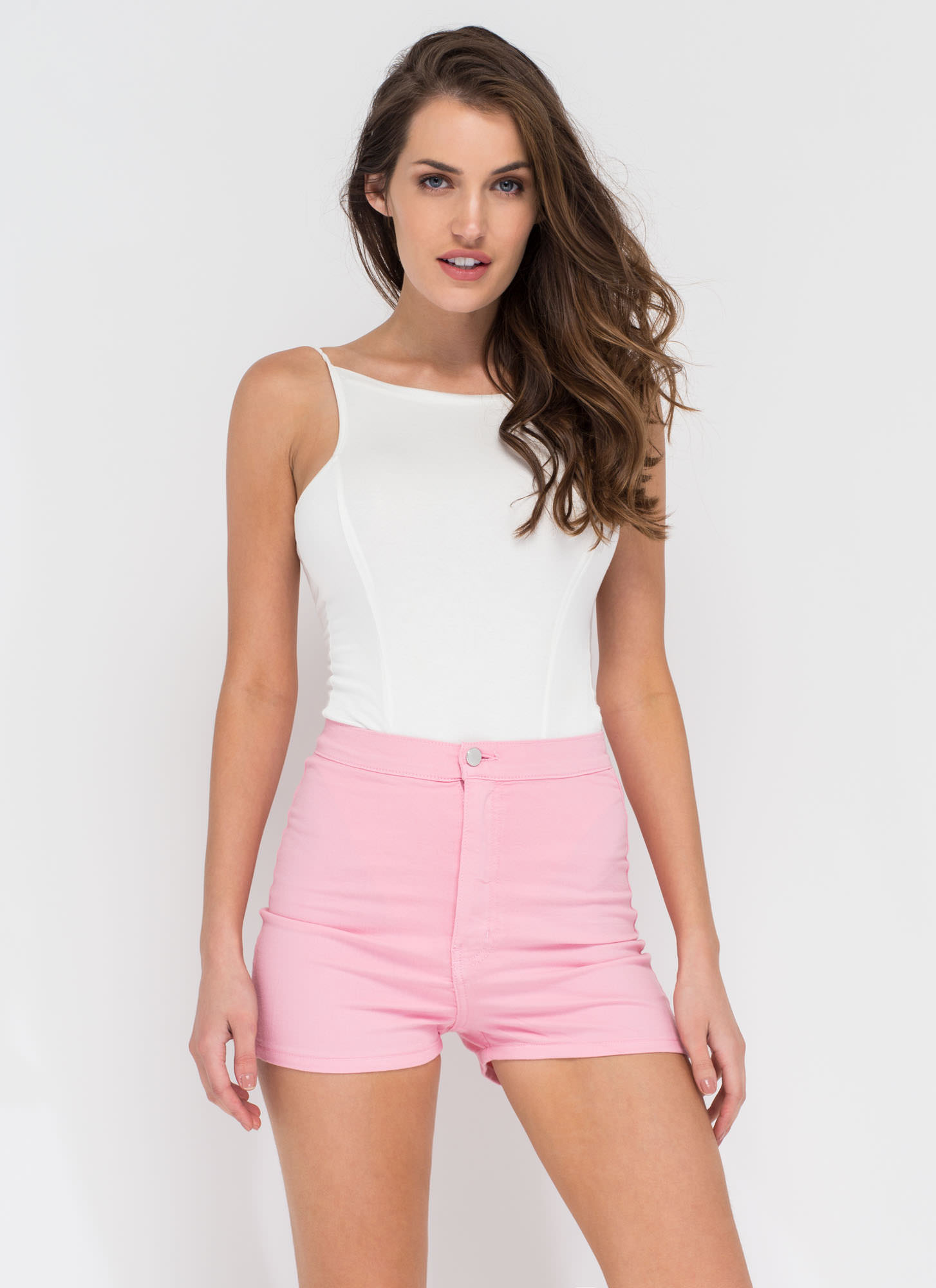 On A High-Waisted Shorts LTPINK