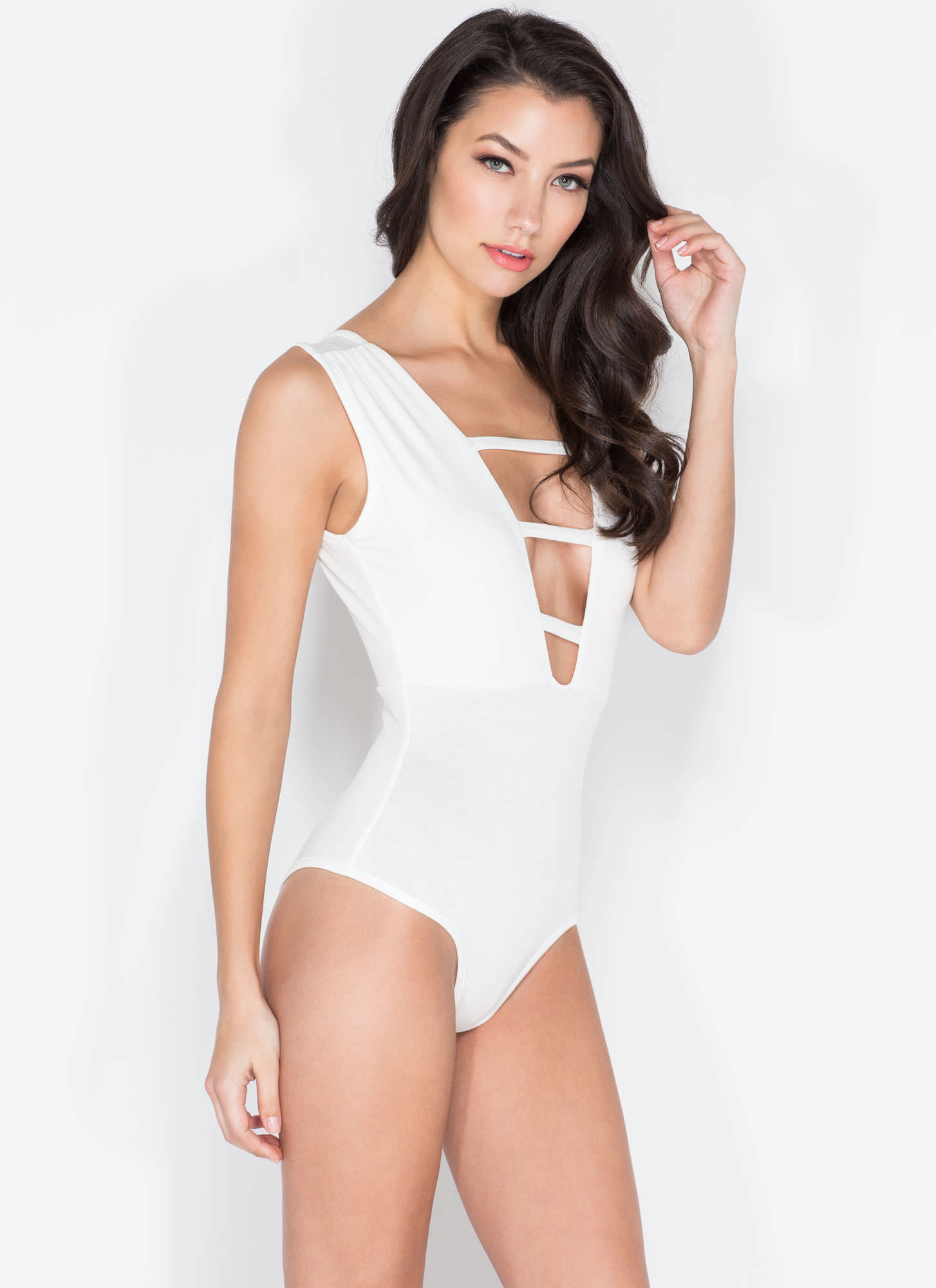 On The Rung Track Strappy Bodysuit