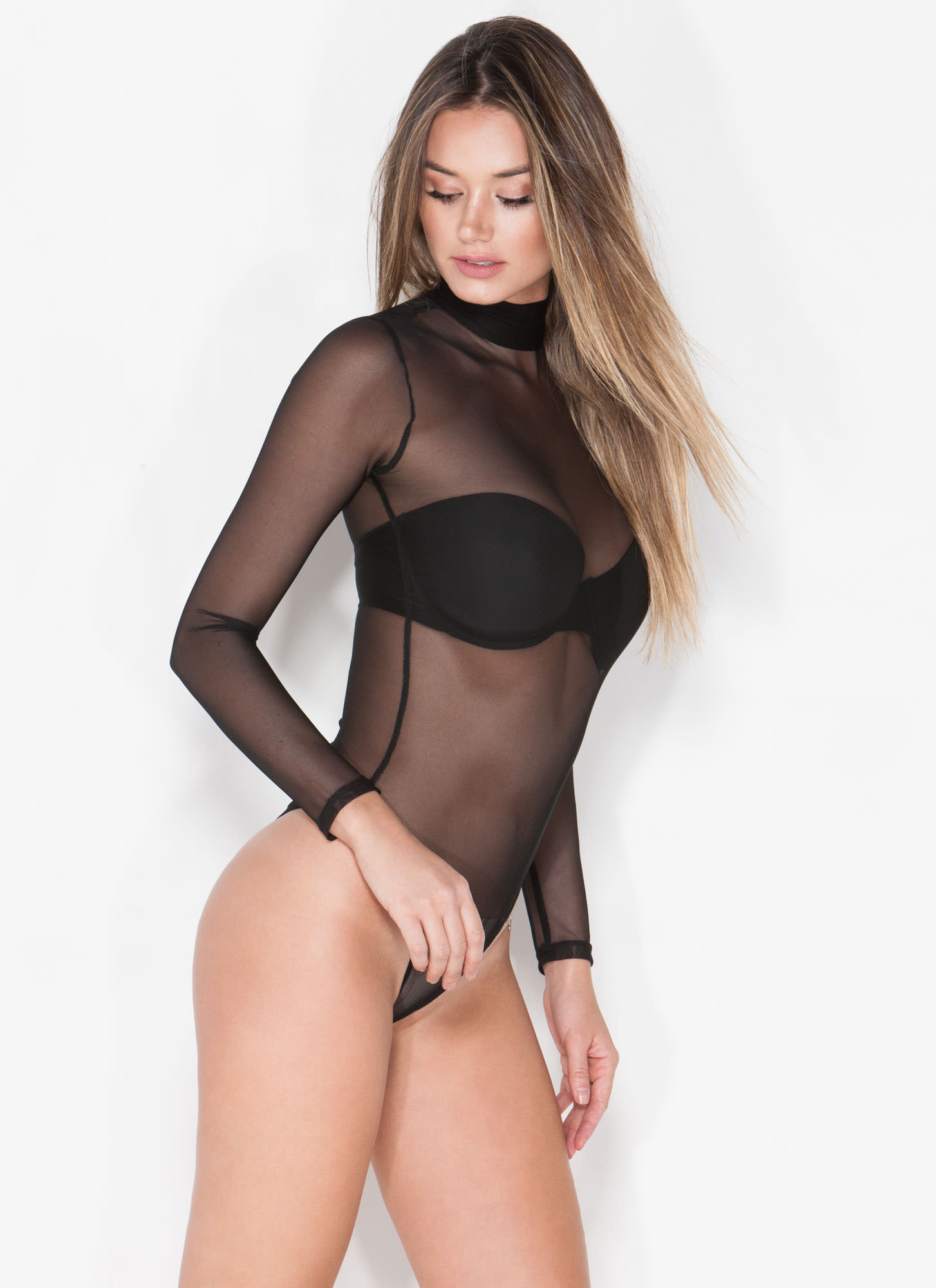 Sheer The View Bodysuit BLACK