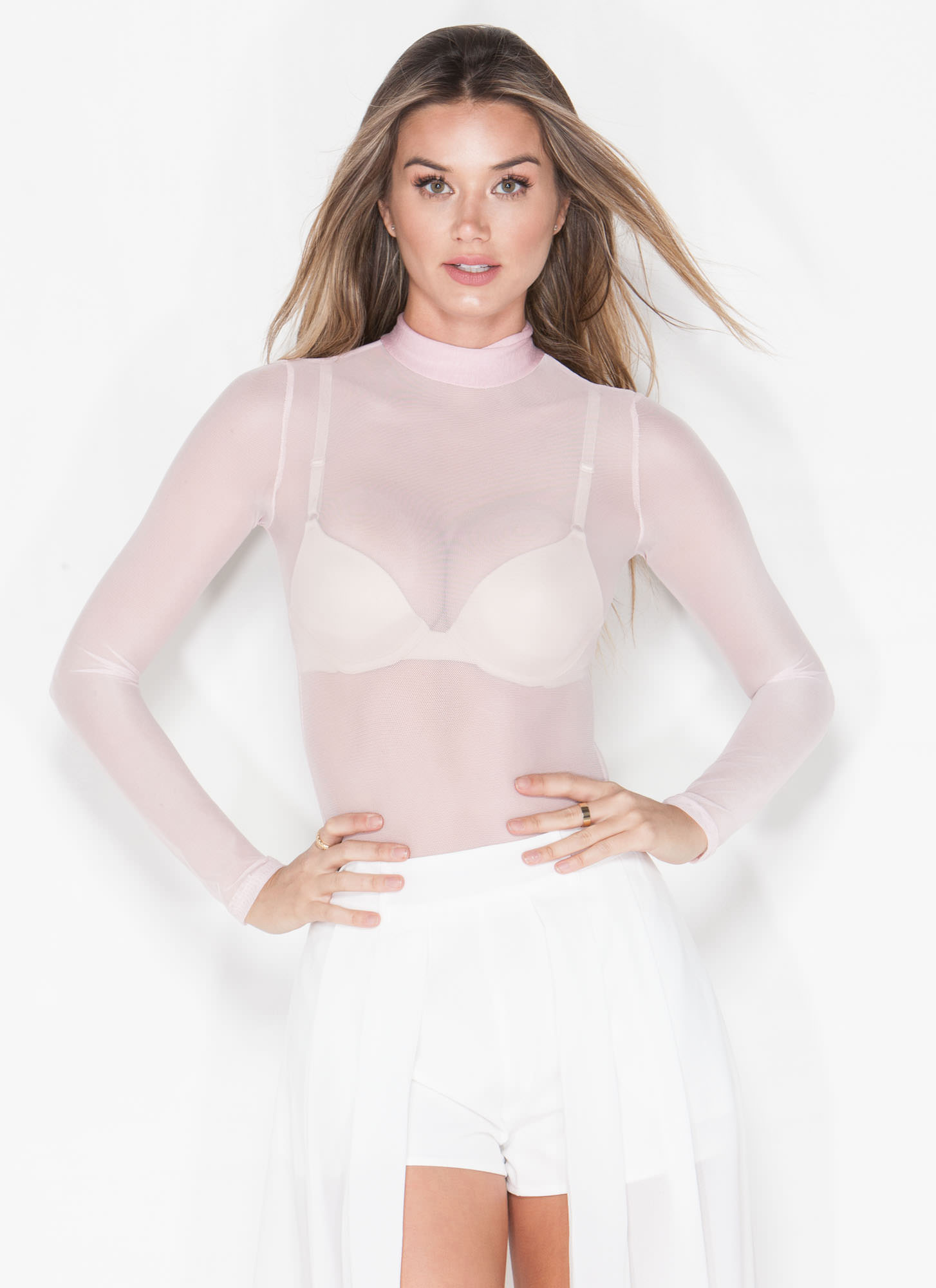 Sheer The View Bodysuit BLUSH
