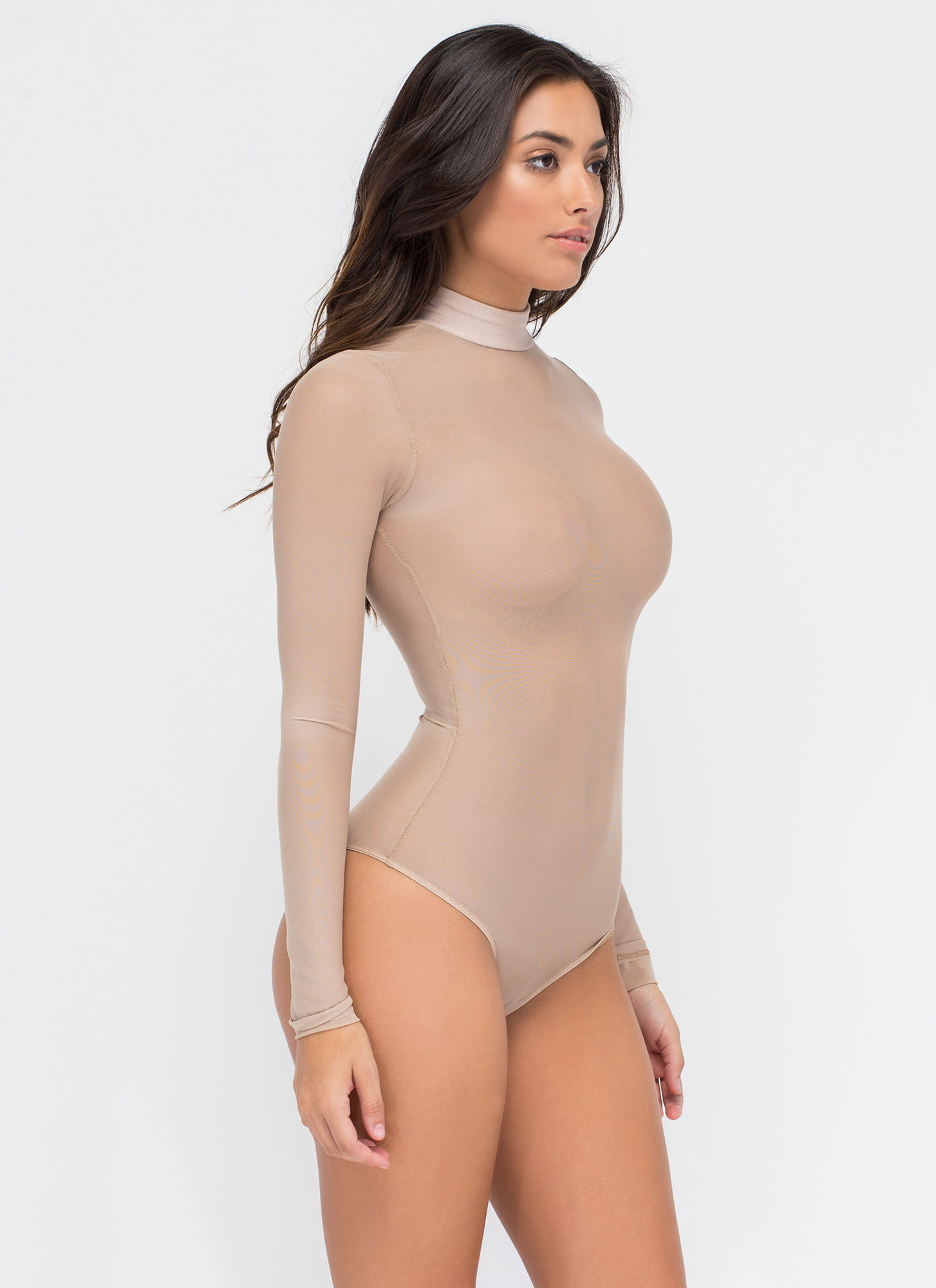 Sheer The View Bodysuit MOCHA
