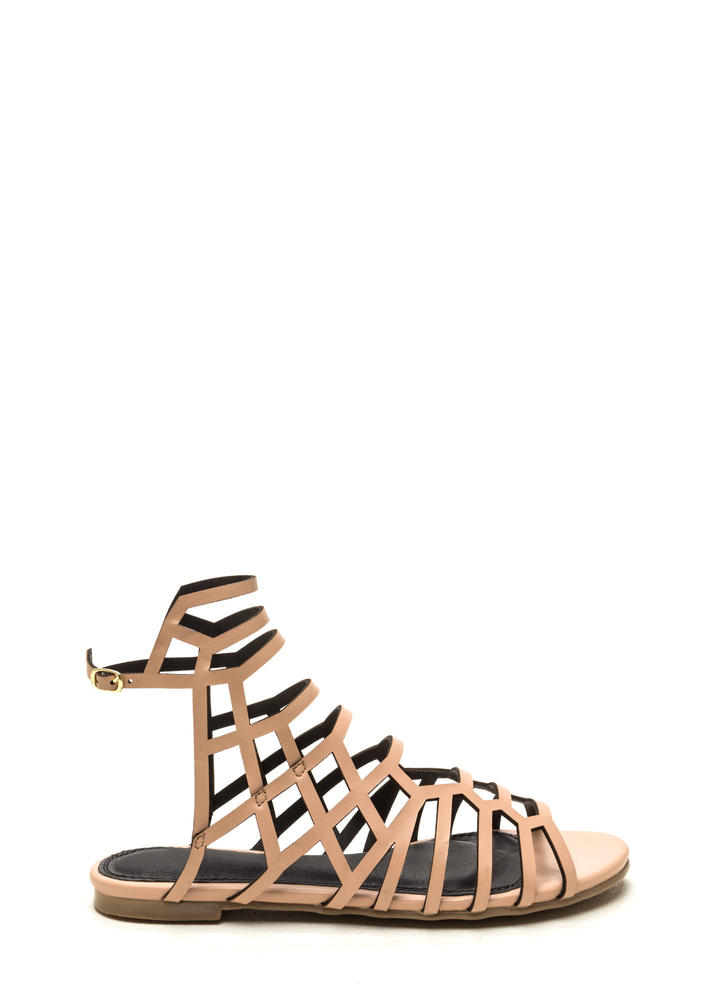 Window Shopping Faux Leather Sandals