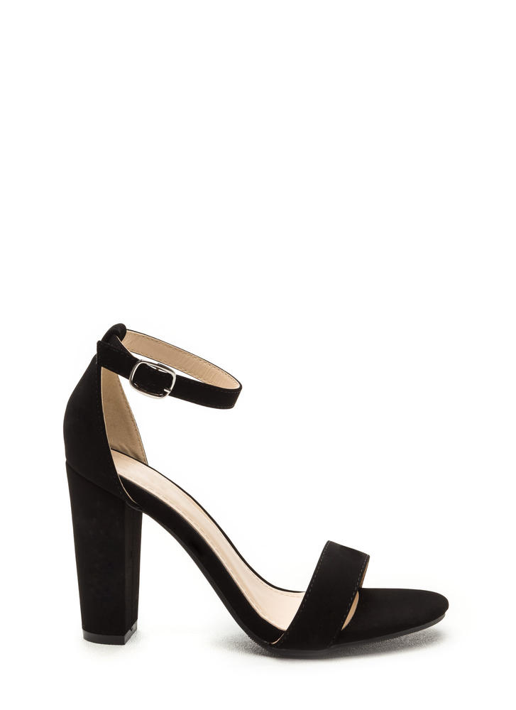 All's Fair In Fashion Faux Nubuck Heels