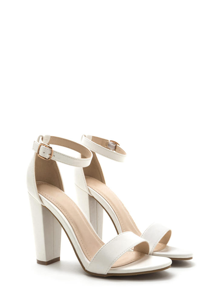 All's Fair In Fashion Faux Leather Heels WHITE