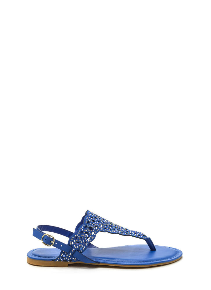 Elegant Flair Faux Nubuck Sandals