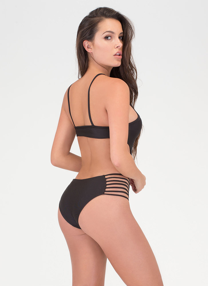 Hit The Surf One-Piece Swimsuit BLACK (Final Sale)