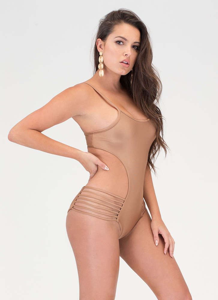 Hit The Surf One-Piece Swimsuit MOCHA (Final Sale)