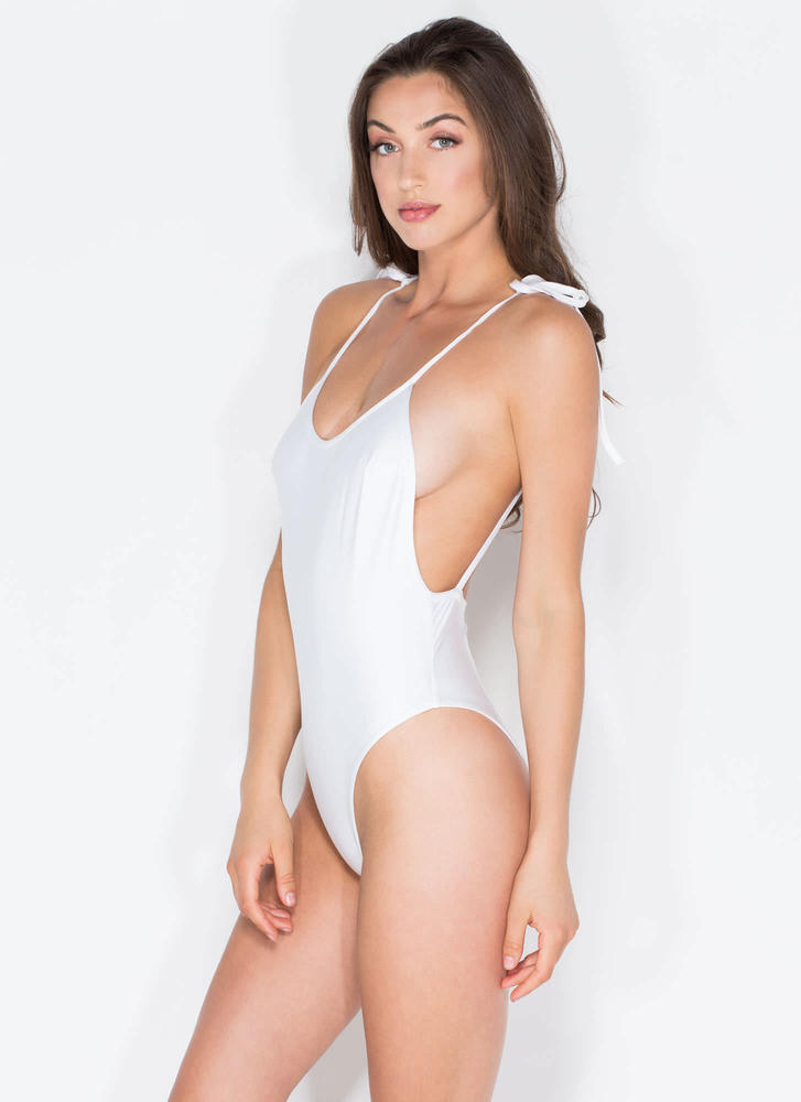 Temperature Rising One-Piece Swimsuit WHITE (Final Sale)