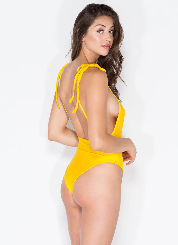 Temperature Rising One-Piece Swimsuit YELLOW (Final Sale)