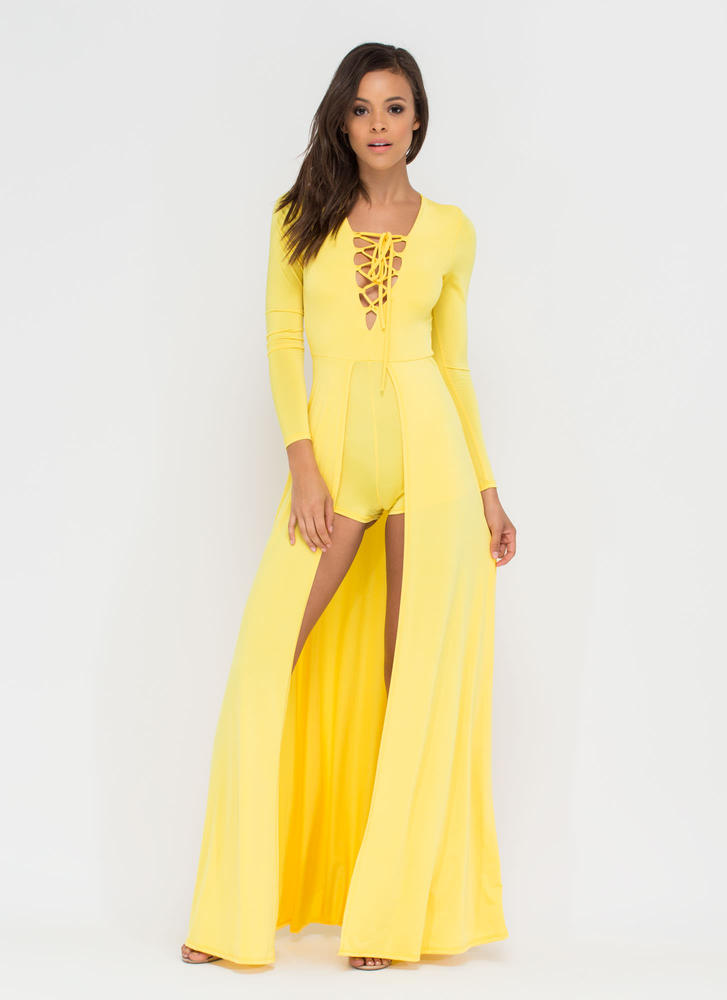Sweeping Victory Lace-Up Maxi