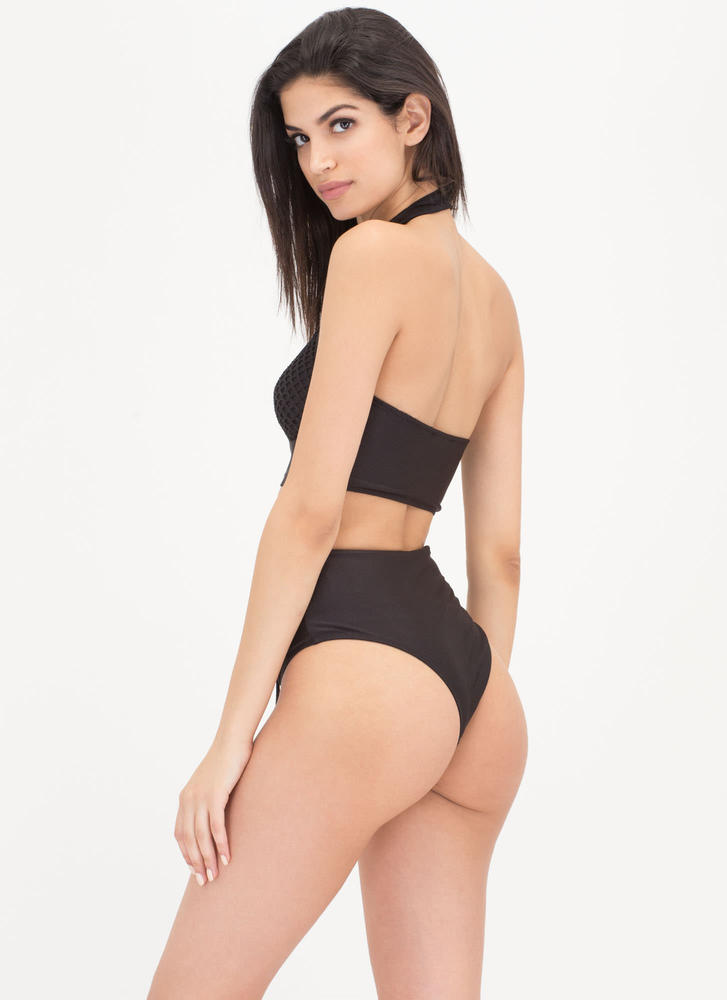 Nothing But Netted Bikini Set BLACK (Final Sale)