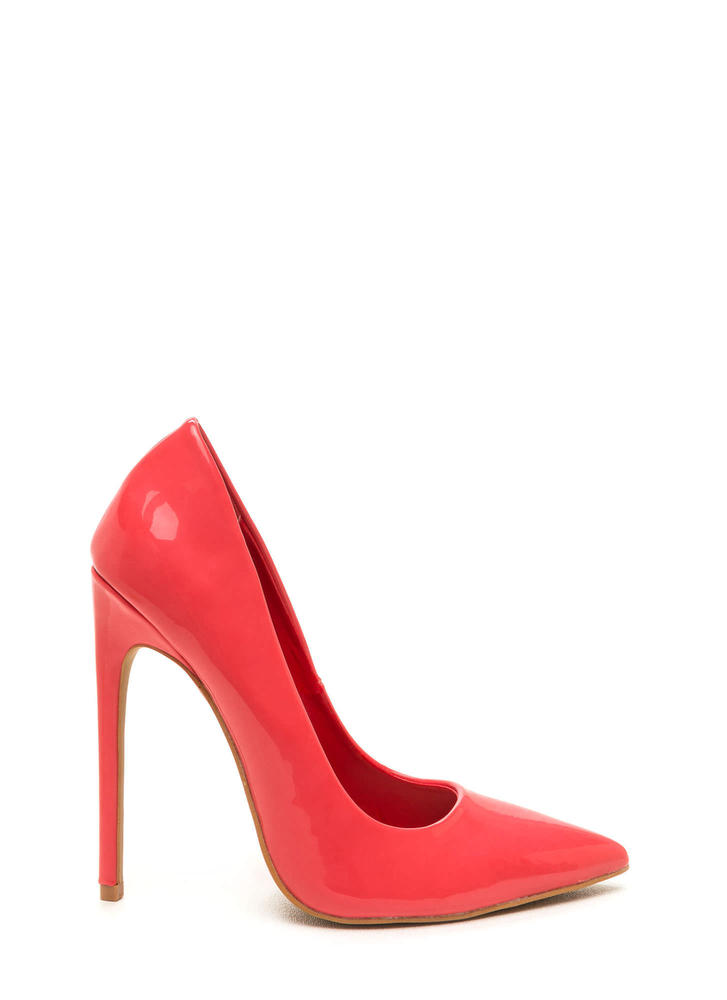 Totally Timeless Faux Patent Pumps BRICK (Final Sale)