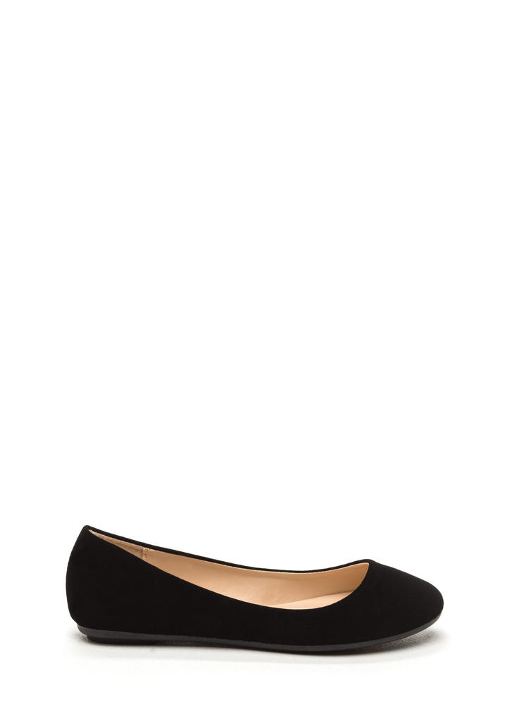 Casual Friday Faux Nubuck Flats BLACK