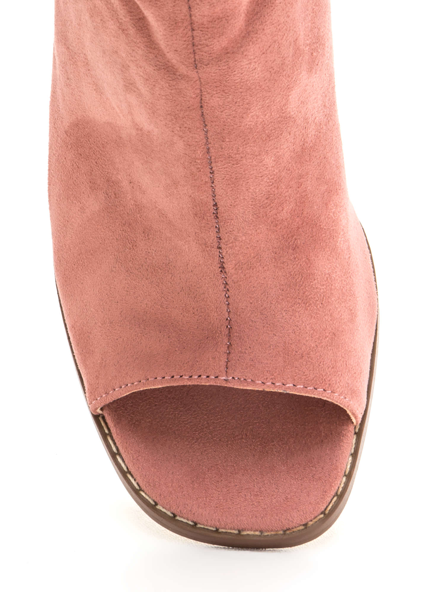 Heel Me Slouchy Cut-Out Booties DUSTYPINK