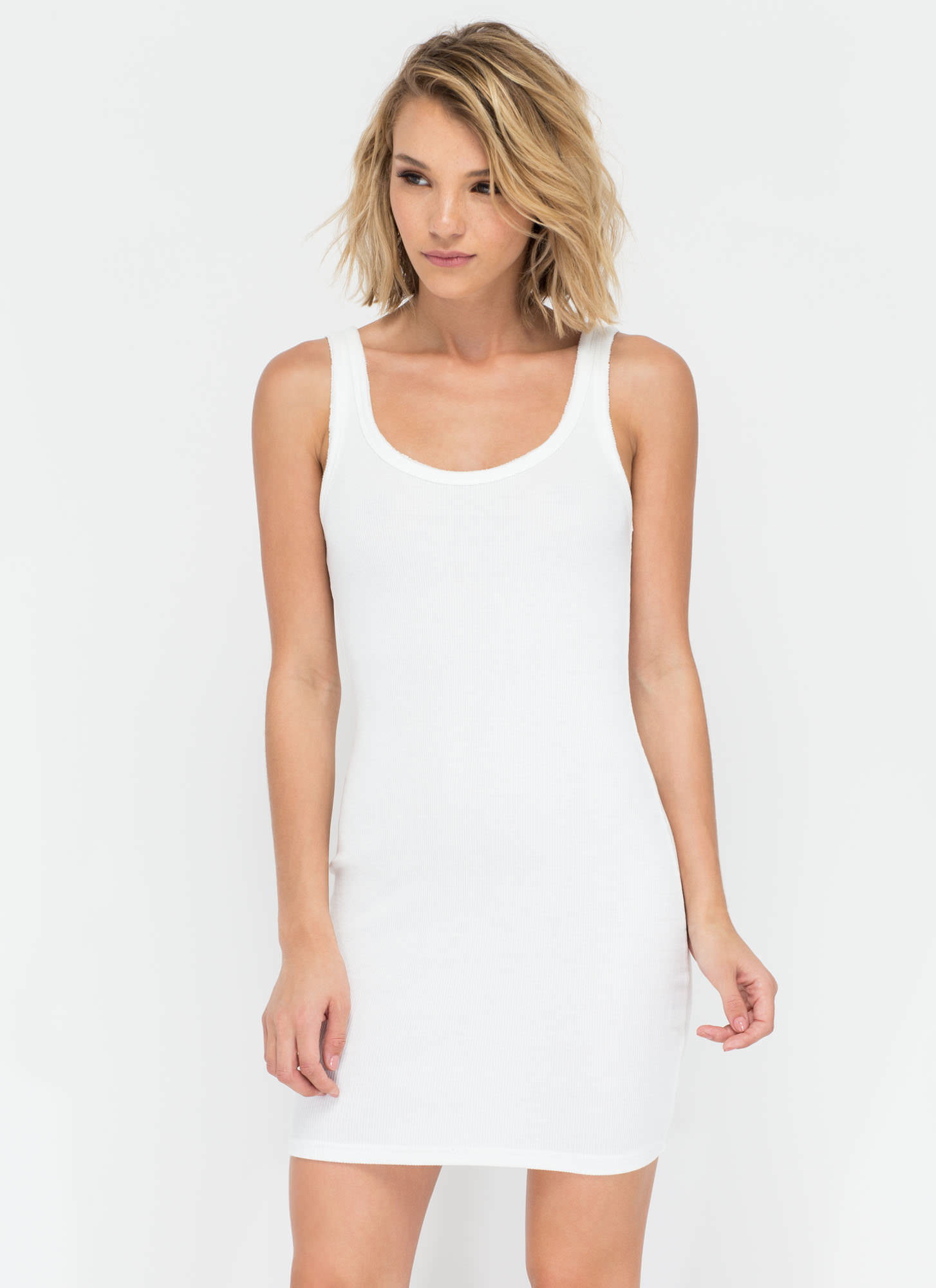 Beach Bunny Rib Knit Tank Dress