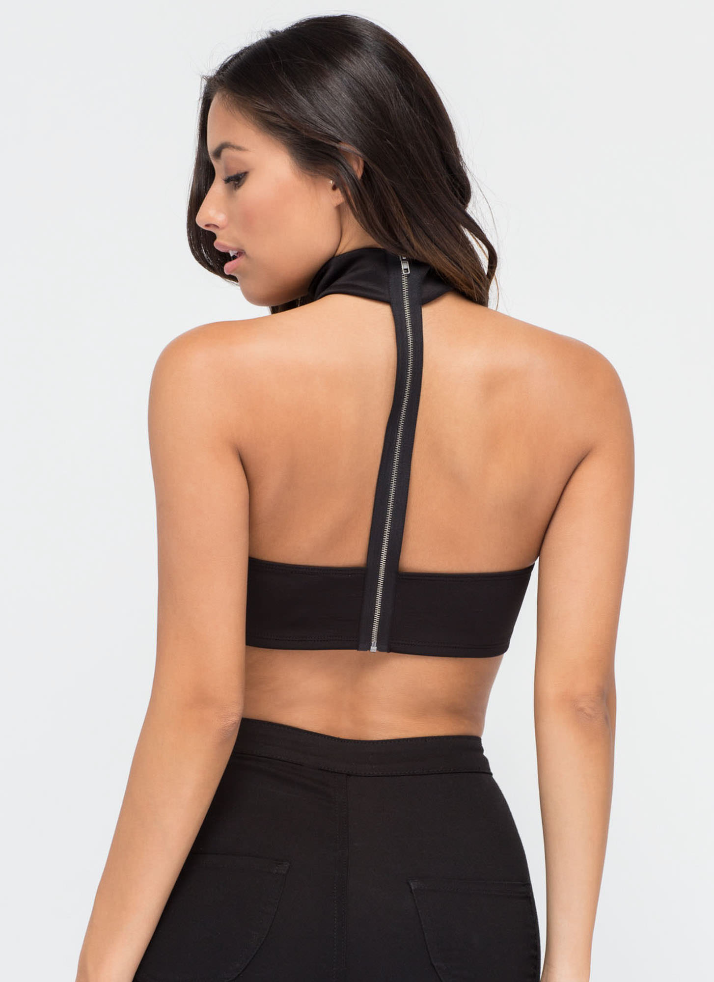 I'm With The Bandeau Crop Top BLACK