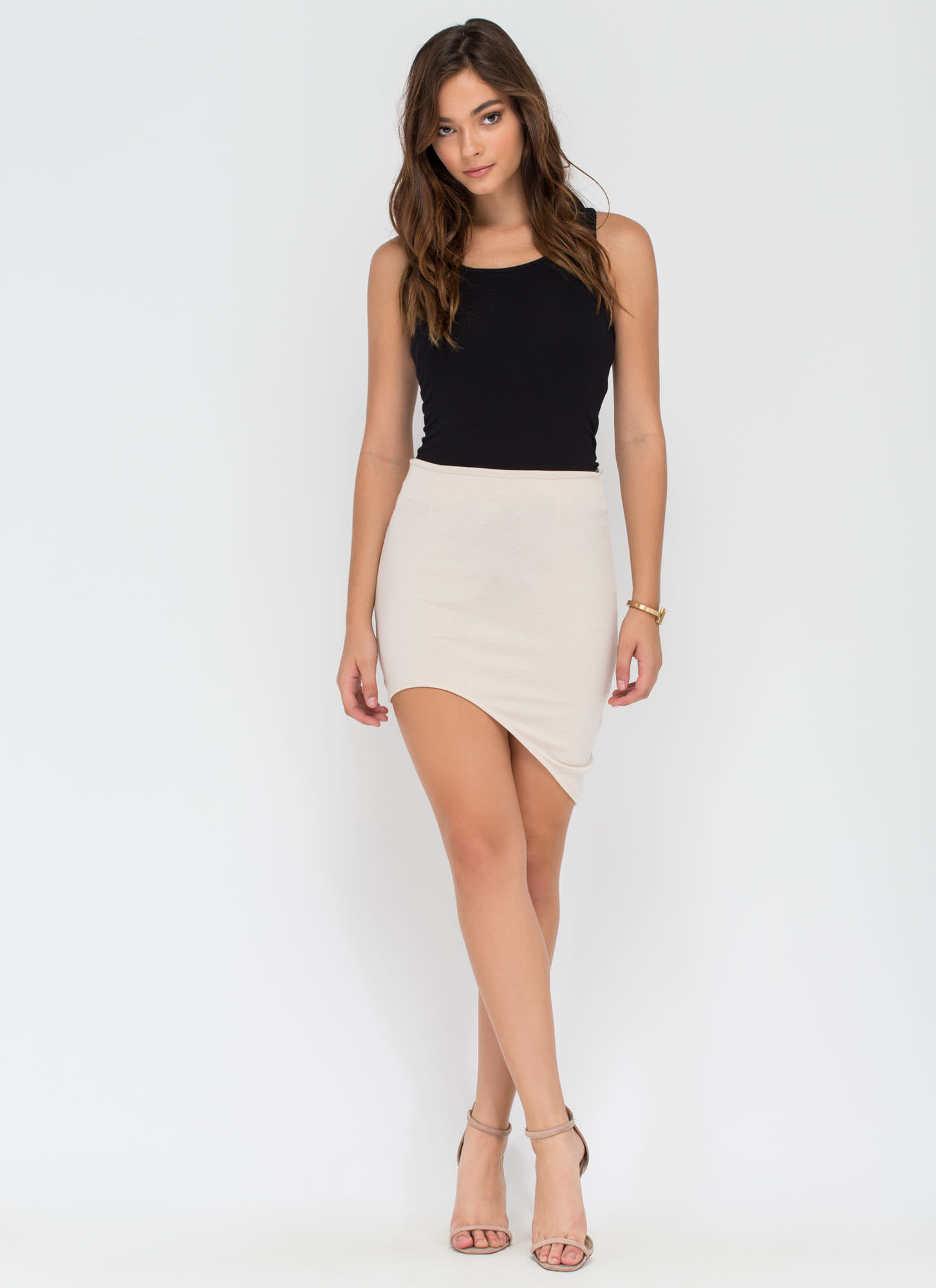 Curve Warning Asymmetrical Skirt