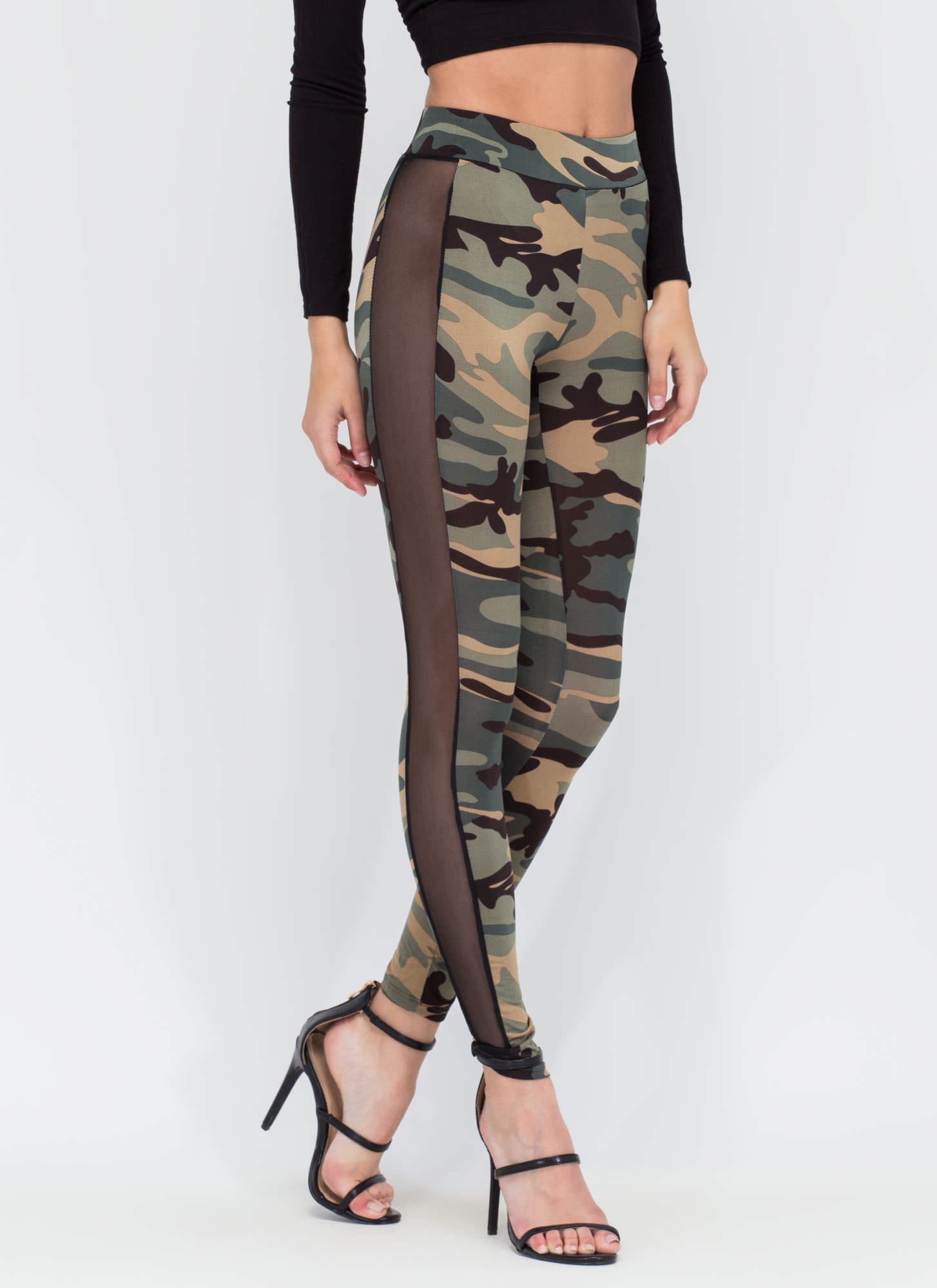 Style Captain Sheer 'N Camo Leggings CAMO
