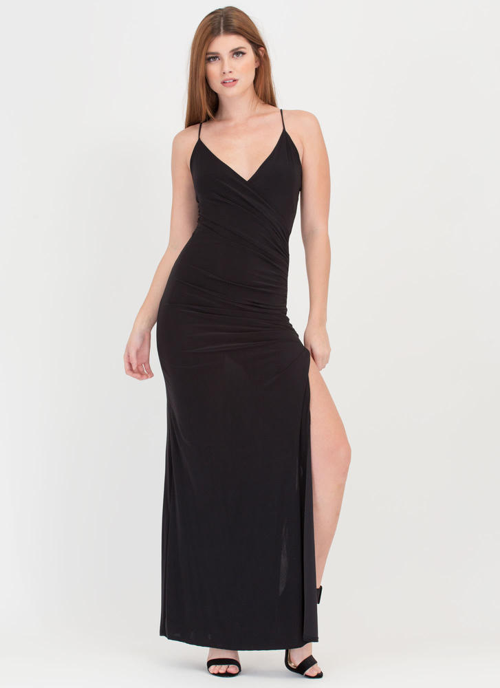 Evening Affair Ruched Maxi Dress