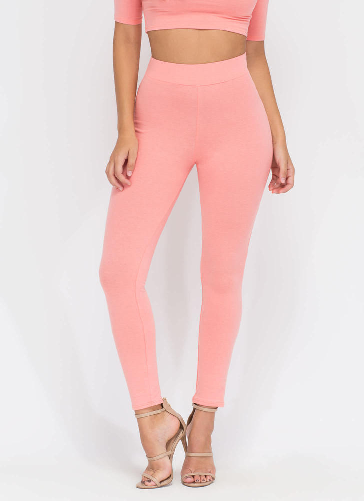 Basic Need Fitted Leggings BLUSH