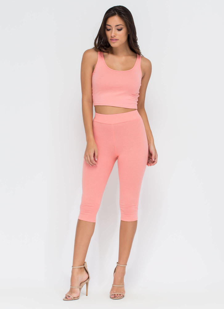 Basic Need Cropped Scoop Tank BLUSH