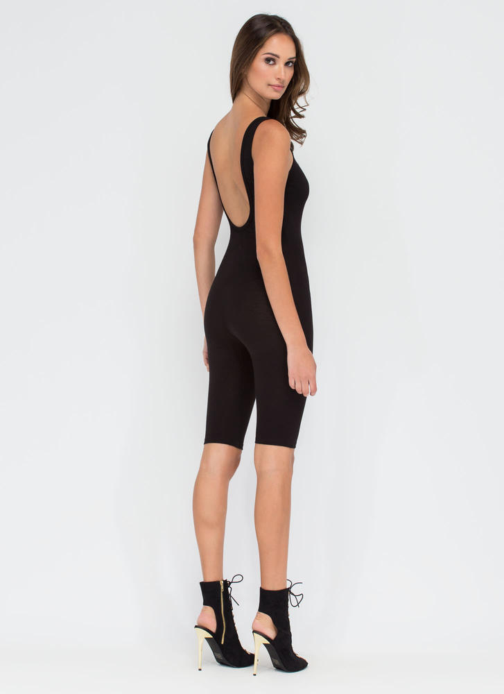 Get The Scoop Cropped Jumpsuit BLACK