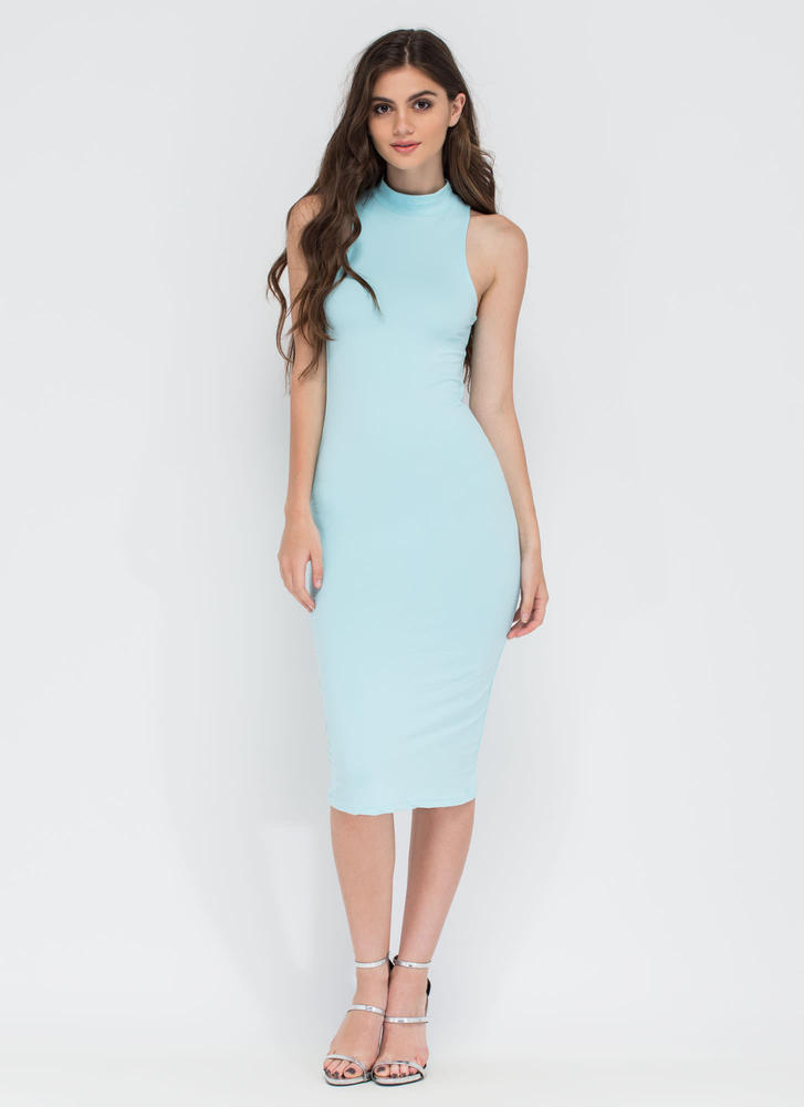 Greatest Gift Mockneck Midi Dress