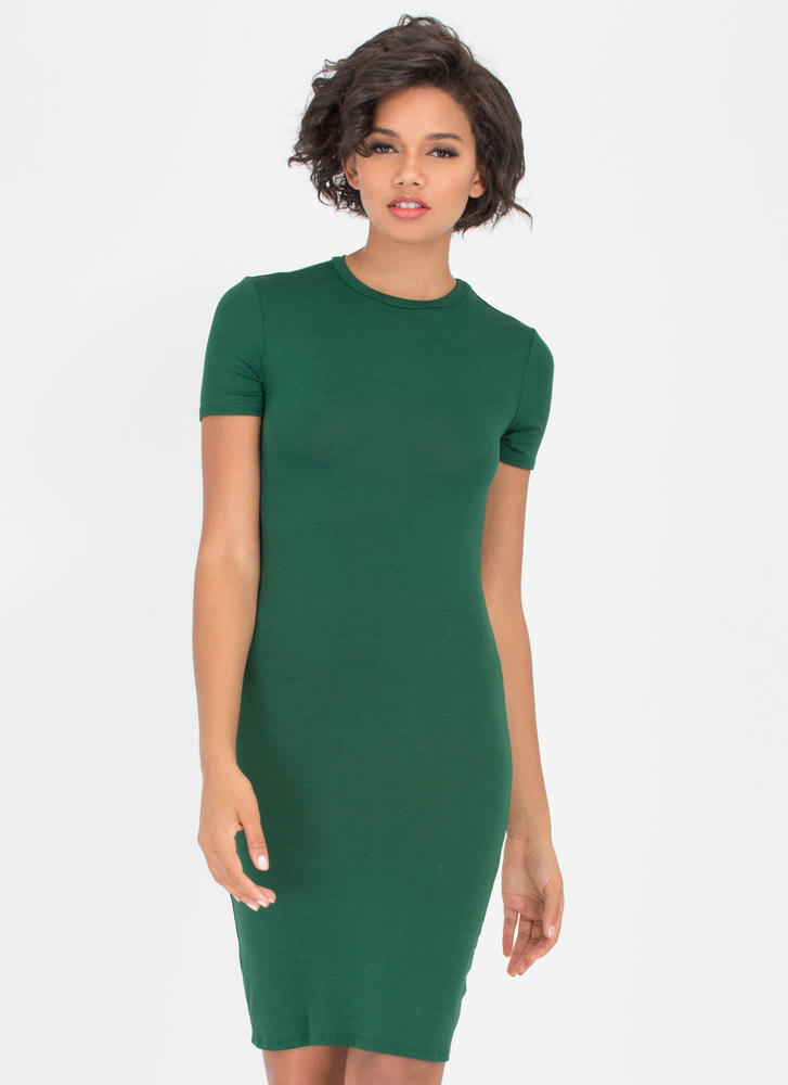 Necessary Knit Basic Dress HUNTERGREEN