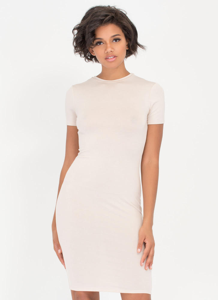 Necessary Knit Basic Dress NUDE