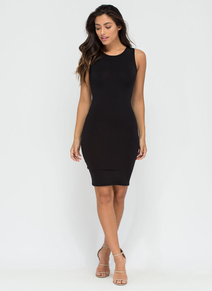 Not-So-Basic Babe Midi Dress BLACK