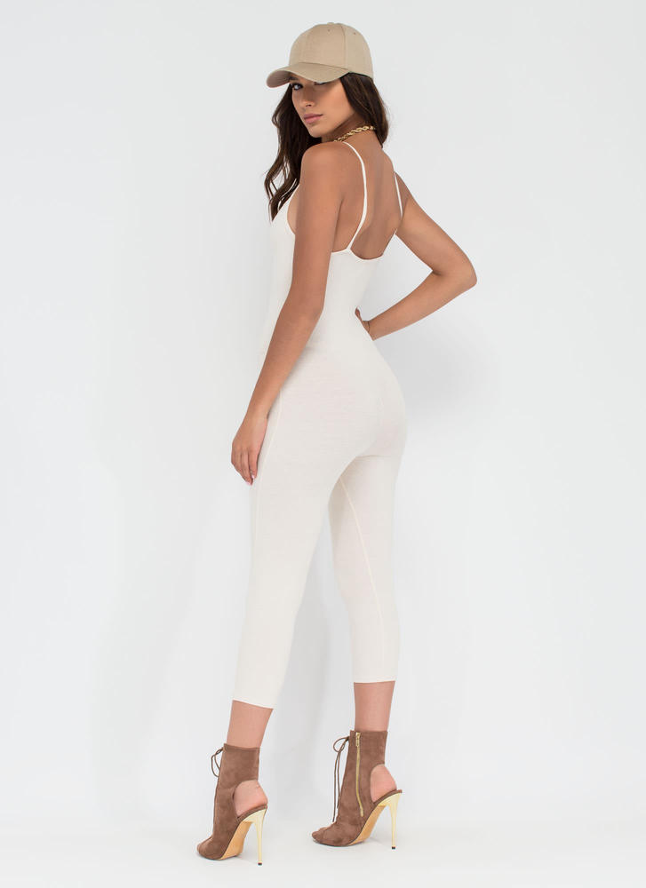 Eyes On You Basic Cropped Jumpsuit NUDE
