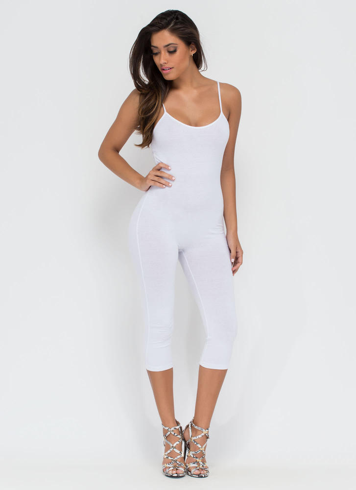 Eyes On You Basic Cropped Jumpsuit