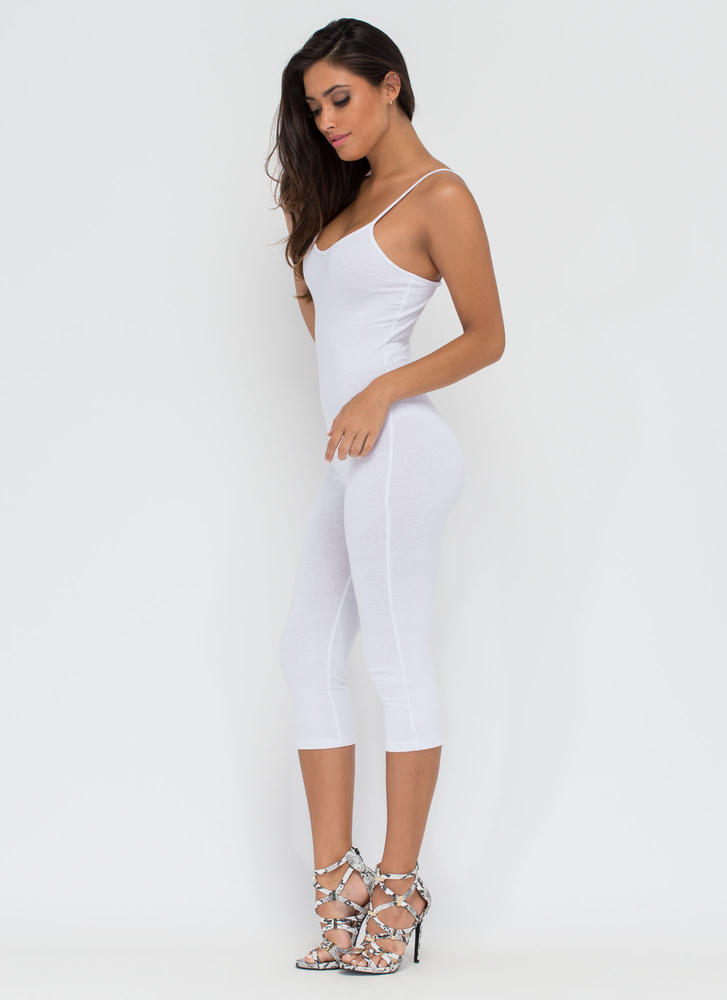 Eyes On You Basic Cropped Jumpsuit WHITE