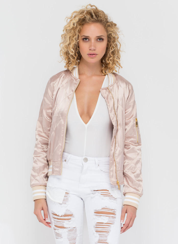 Quilty Pleasure Sporty Bomber Jacket