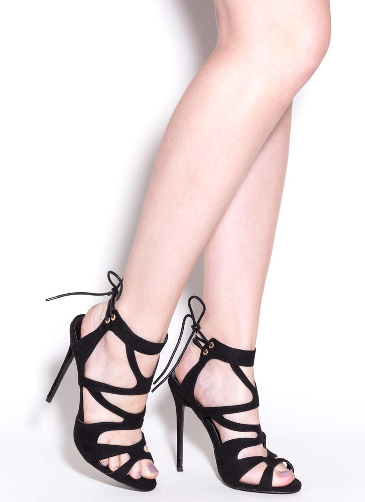Thin Is In Caged Stiletto Heels