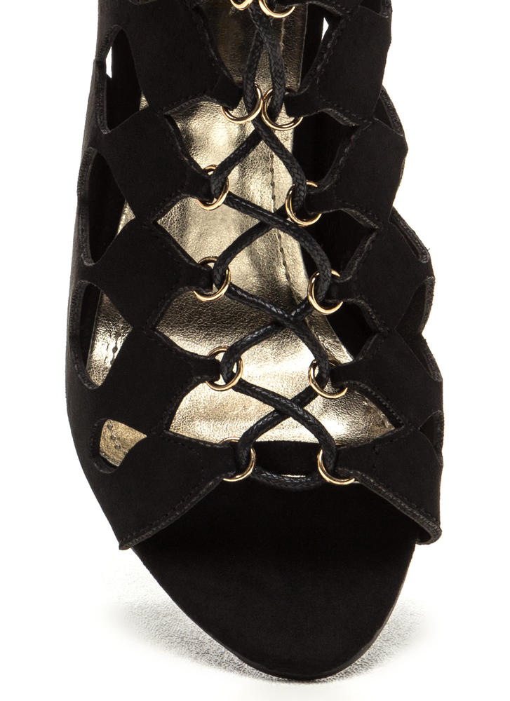 Chic Exposure Caged Cut-Out Heels BLACK (Final Sale)