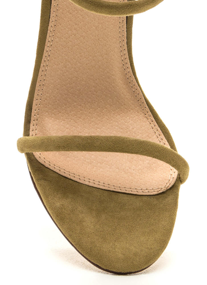 Total Triple Threat Strappy Heels OLIVE