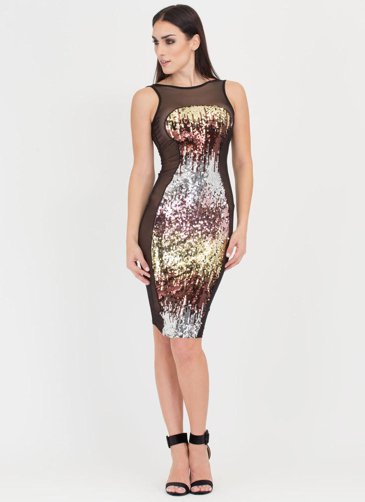 Dream Sequins Midi Dress