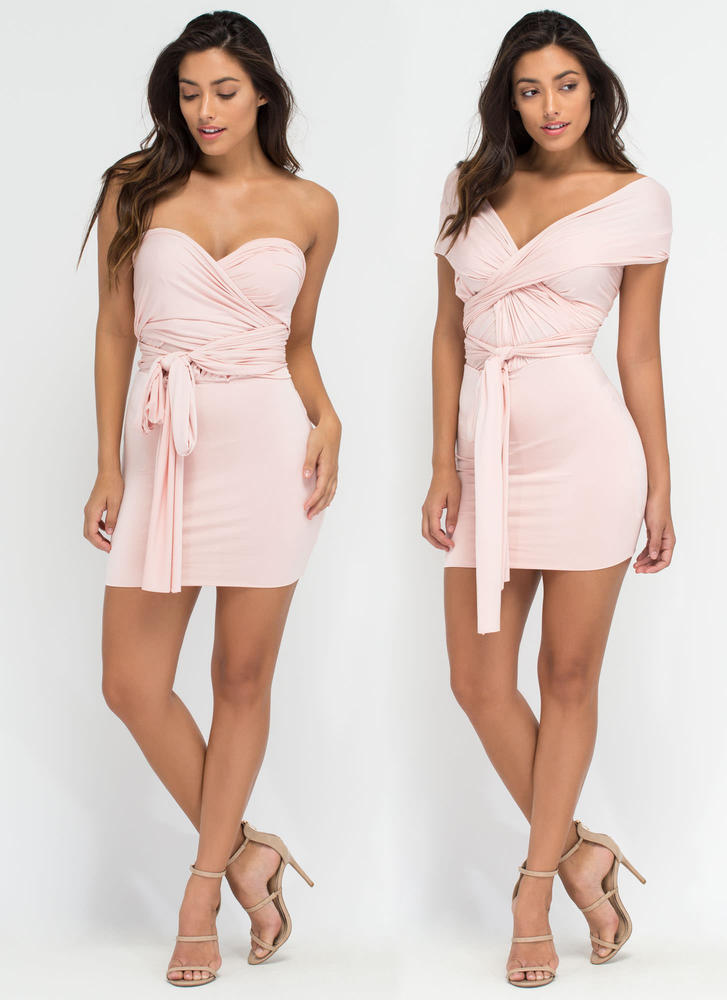 Have It My Way Convertible Minidress