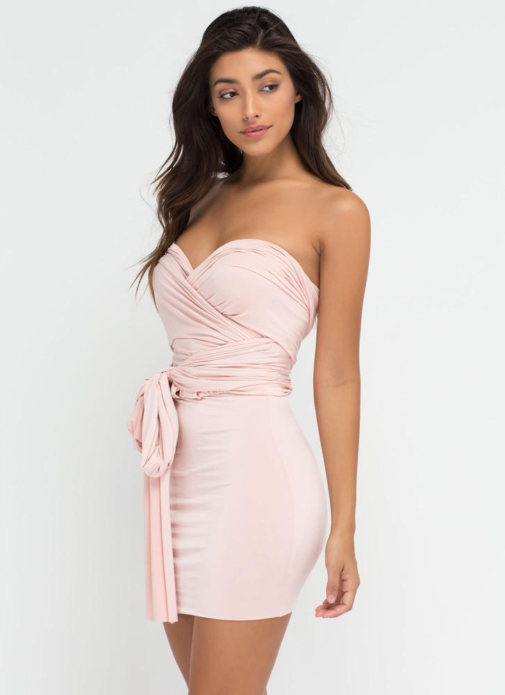Have It My Way Convertible Minidress BLUSH