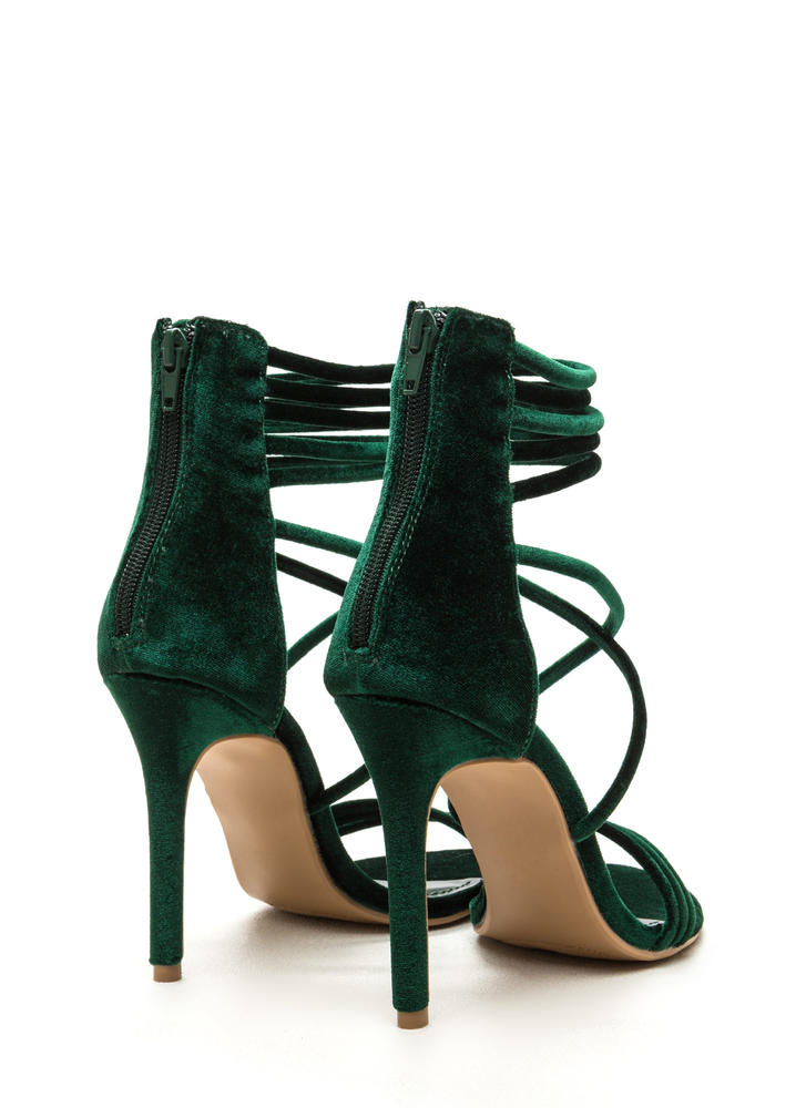 Velvet Touch Strappy Stiletto Heels JADE