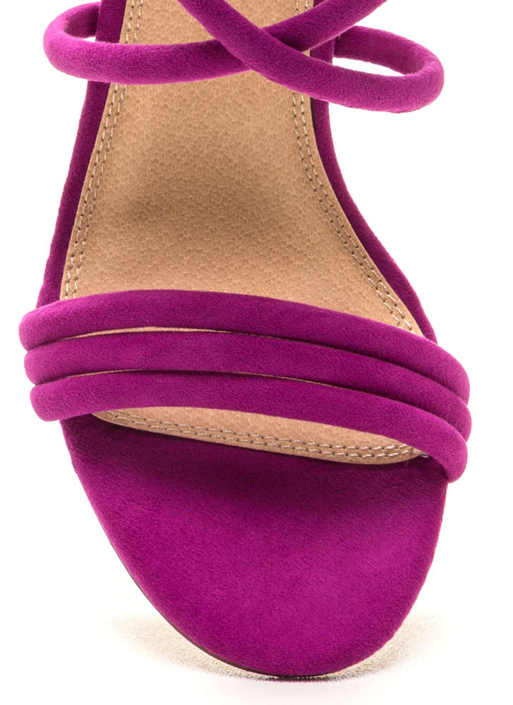 Get In Formation Faux Suede Heels PURPLE