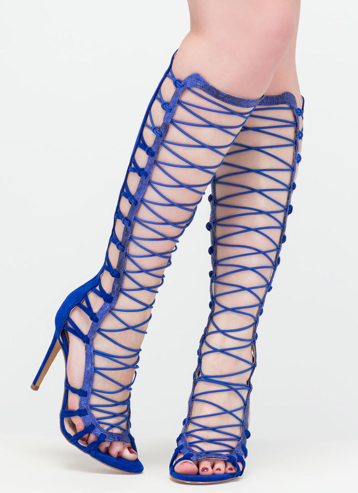 Knot Your Average Gladiator Heels BLUE