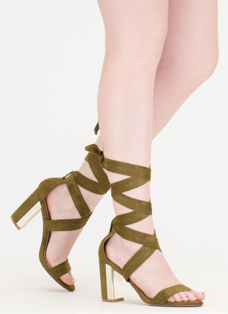 Gleam Come True Chunky Tie-Up Heels
