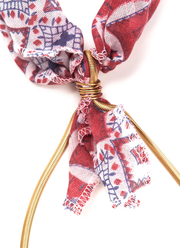 Best In The West Scarf Necklace RED (Final Sale)